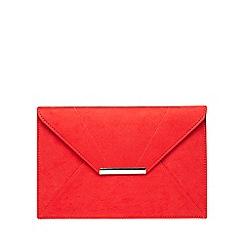 Dorothy Perkins - Red envelope clutch bag