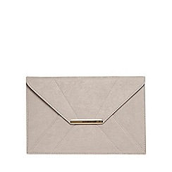 Dorothy Perkins - Grey envelope clutch bag