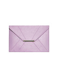 Dorothy Perkins - Lilac envelope clutch bag