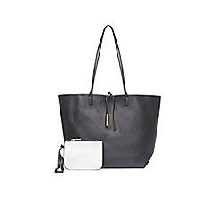 Dorothy Perkins - Black and silver reversible shopper bag