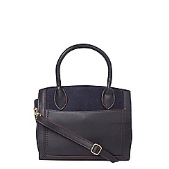 Dorothy Perkins - Navy structured mini tote bag
