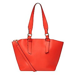 Dorothy Perkins - Red oversized knot handle tote bag