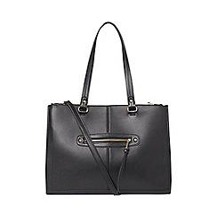 Dorothy Perkins - Black oversized zip front tote