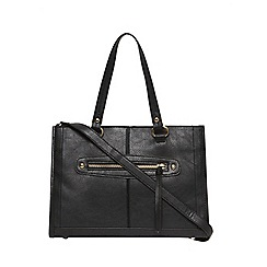 Dorothy Perkins - Black mini zip front tote bag