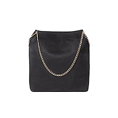 Dorothy Perkins - Black chain unlined shopper bag