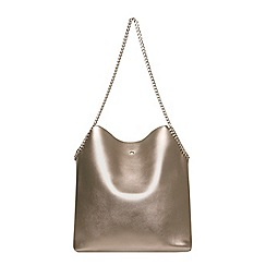 Dorothy Perkins - Grey chain unlined shopper bag