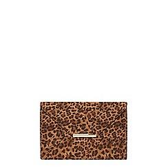 Dorothy Perkins - Leopard envelope clutch