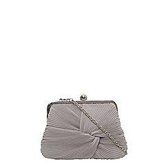 Dorothy Perkins - Grey pleat frame clutch