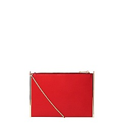 Dorothy Perkins - Red side bar chain clutch bag