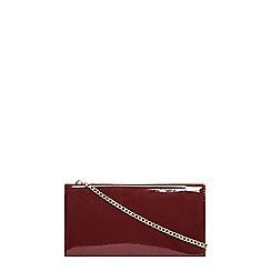 Dorothy Perkins - Burgundy bar top clutch bag