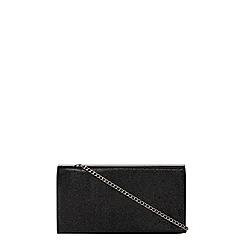 Dorothy Perkins - Black shimmer bar top clutch bag