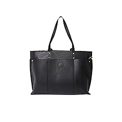 Dorothy Perkins - Black triple compartment tote bag