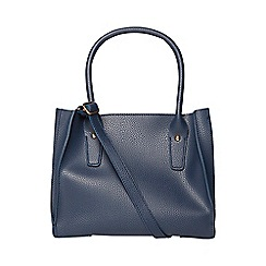 Dorothy Perkins - Navy mini pleat tote bag
