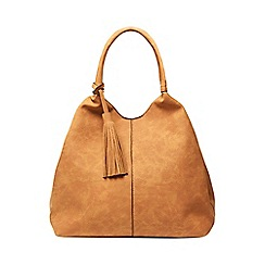 Dorothy Perkins - Tan unstructured hobo bag