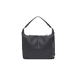 Dorothy Perkins - Black faux leather double zip hobo bag