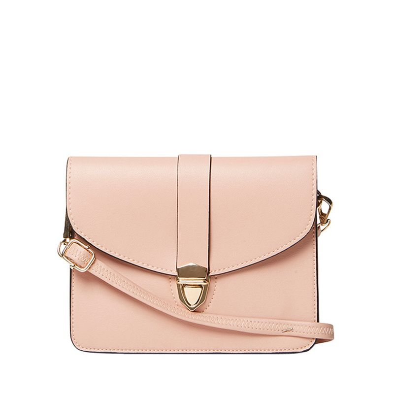 Dorothy Perkins - Blush Pushlock Mini Cross Body Bag
