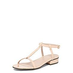 Dorothy Perkins - Nude 'frappe' t-bar sandals