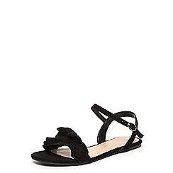 Dorothy Perkins - Black 'flutter' ruffle sandals