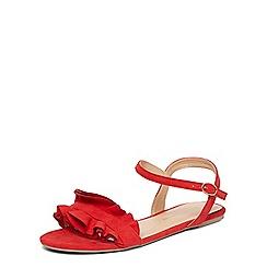 Dorothy Perkins - Red 'flutter' ruffle sandals