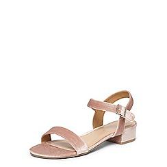 Dorothy Perkins - Pink Freddie velvet sandals