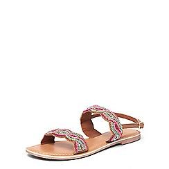 Dorothy Perkins - Tan leather 'france' sandals