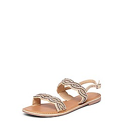 Dorothy Perkins - Nude leather 'france' sandals