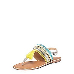 Dorothy Perkins - Yellow 'flora' tassel sandals