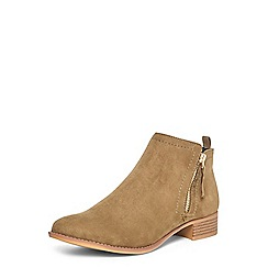 Dorothy Perkins - Green 'micha' zip ankle boots