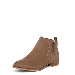 Dorothy Perkins - Mink 'Micha' zip ankle boots