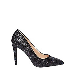 Dorothy Perkins - Black glitter 'emily' pointed court shoes