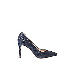 Dorothy Perkins - Cobalt glitter 'Emily' court shoes