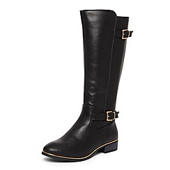 Dorothy Perkins - Black 'Trinity' knee high boots