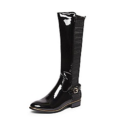 Dorothy Perkins - Black 'tina' buckle detail long boots