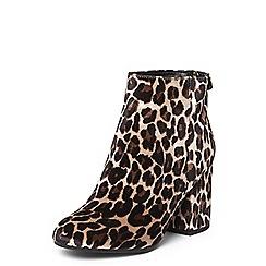 Dorothy Perkins - Leopard print 'mariah' velvet boots