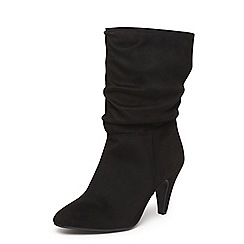 Dorothy Perkins - Black 'katie' ruched calf boots