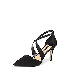 Dorothy Perkins - Black 'giana' two part court shoes