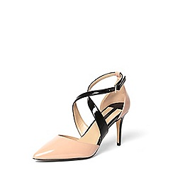 Dorothy Perkins - Nude 'giana' crossover court shoes