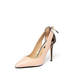 Dorothy Perkins - Nude 'edie' tie detail court shoes
