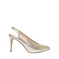 Dorothy Perkins - Gold 'Georgina' court shoes