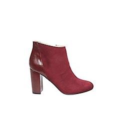 Dorothy Perkins - ** lily & franc burgundy 'jemima' ankle boots