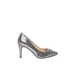 Dorothy Perkins - Pewter 'Gemm' embellished court shoes