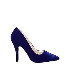 Dorothy Perkins - Cobalt 'eva' glitter sole court shoes