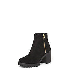 Dorothy Perkins - Black 'Minny' chunky ankle boots