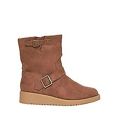 Dorothy Perkins - Taupe 'Madison' ankle boots