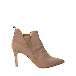 Dorothy Perkins - **Lily & Franc taupe 'Jodie' ankle boots