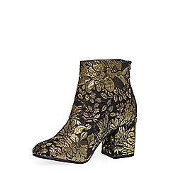 Dorothy Perkins - Gold brocade 'mariah' boots