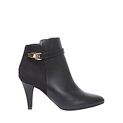 Dorothy Perkins - Black 'amerie' gold buckle boots