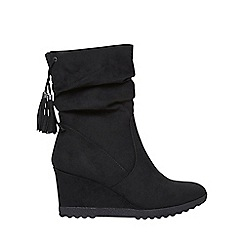 Dorothy Perkins - Black 'Taylor' wedge boots