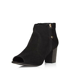 Dorothy Perkins - Black alpha peep toe boots