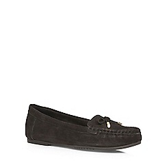 Dorothy Perkins - Black leather 'loretta' loafers